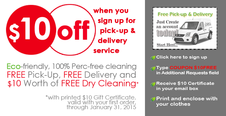 dry cleaners, specials, offers, eco dry cleaners, promotions